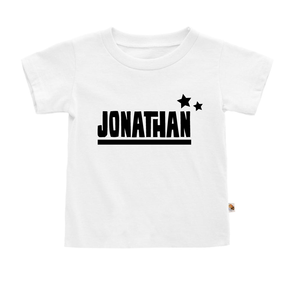 Teezbee.com - Name With Little Star - Kids-T (White)