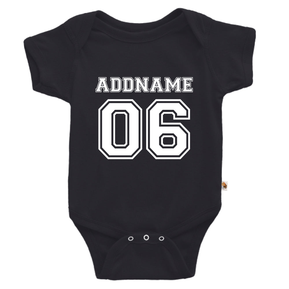 Teezbee.com - Name With Number  - Romper (Black)