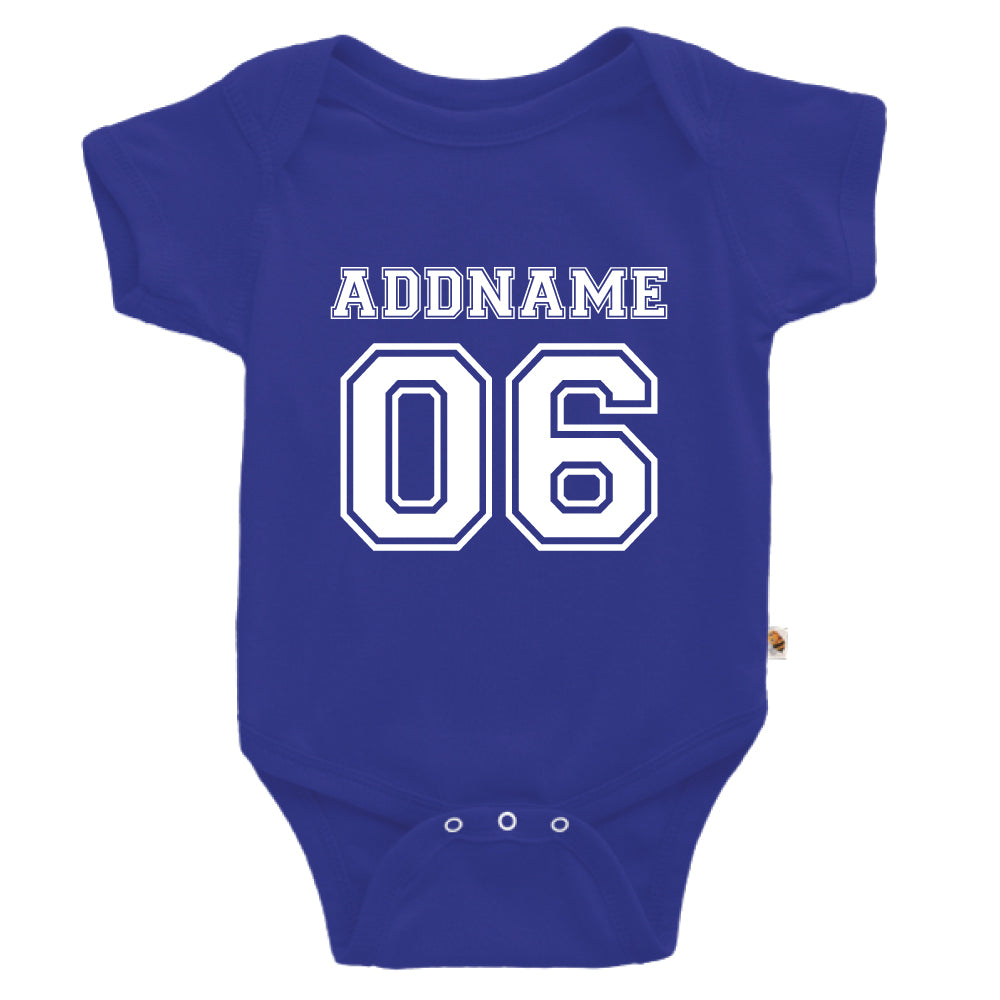 Teezbee.com - Name With Number  - Romper (Blue)