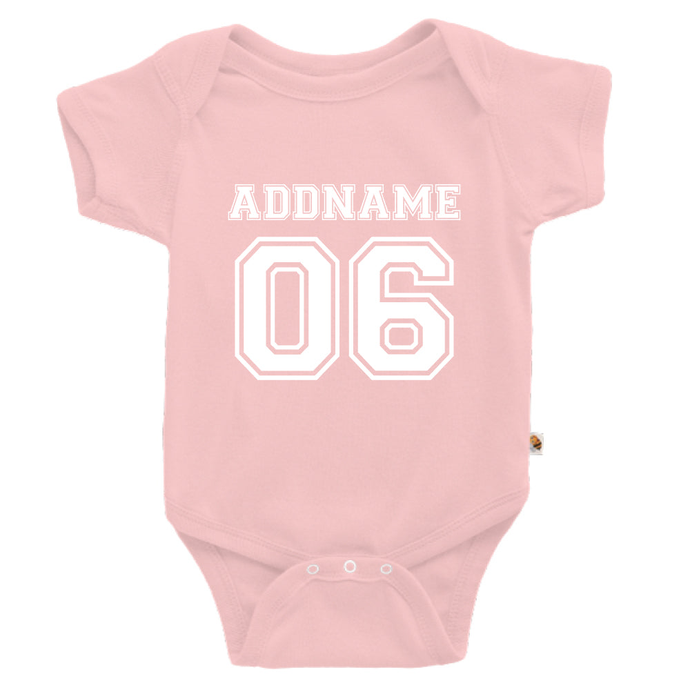 Teezbee.com - Name With Number  - Romper (Pink)
