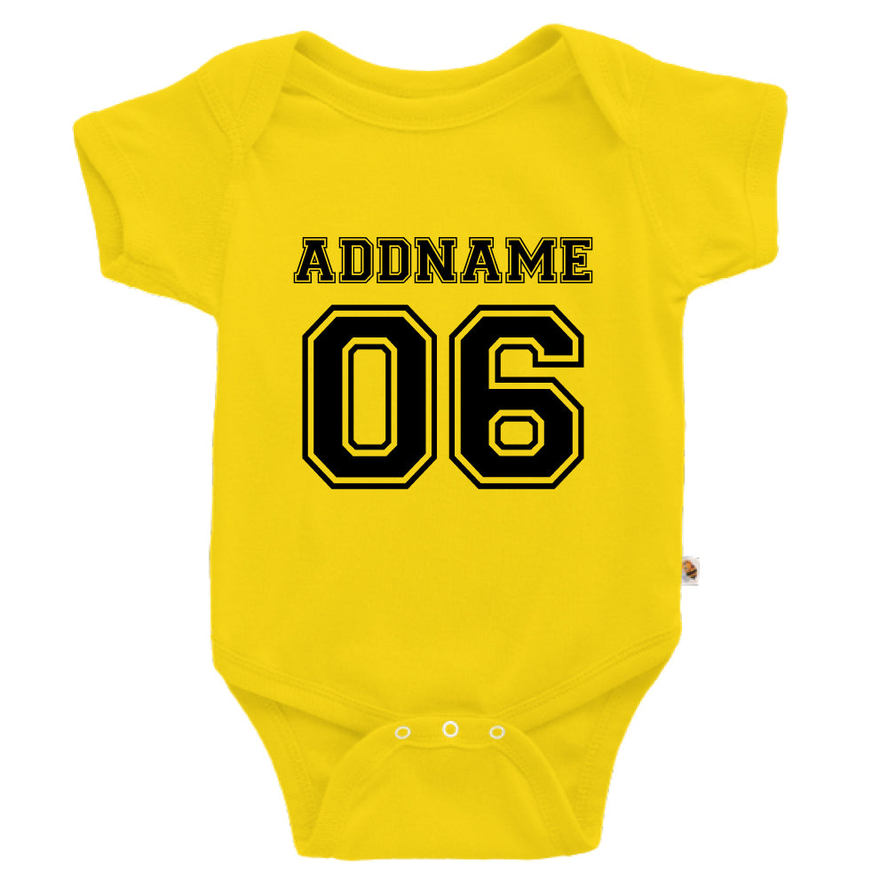 Teezbee.com - Name With Number  - Romper (Yellow)