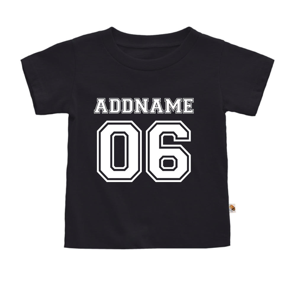 Teezbee.com - Name With Number  - Kids-T (Black)