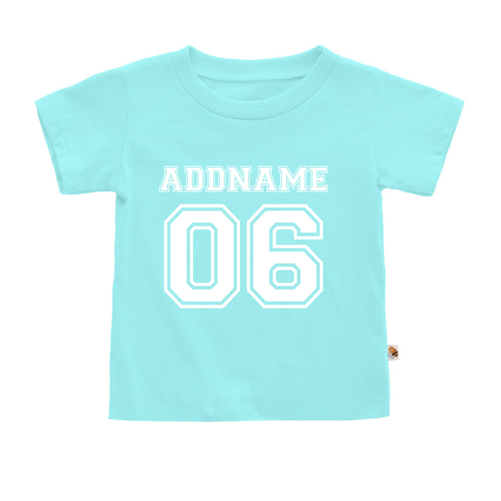 Teezbee.com - Name With Number  - Kids-T (Light Blue)