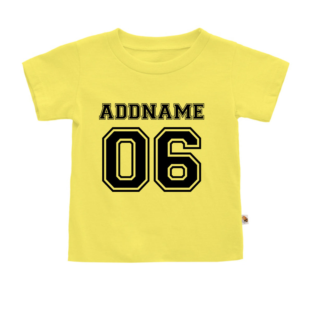 Teezbee.com - Name With Number  - Kids-T (Light Yellow)