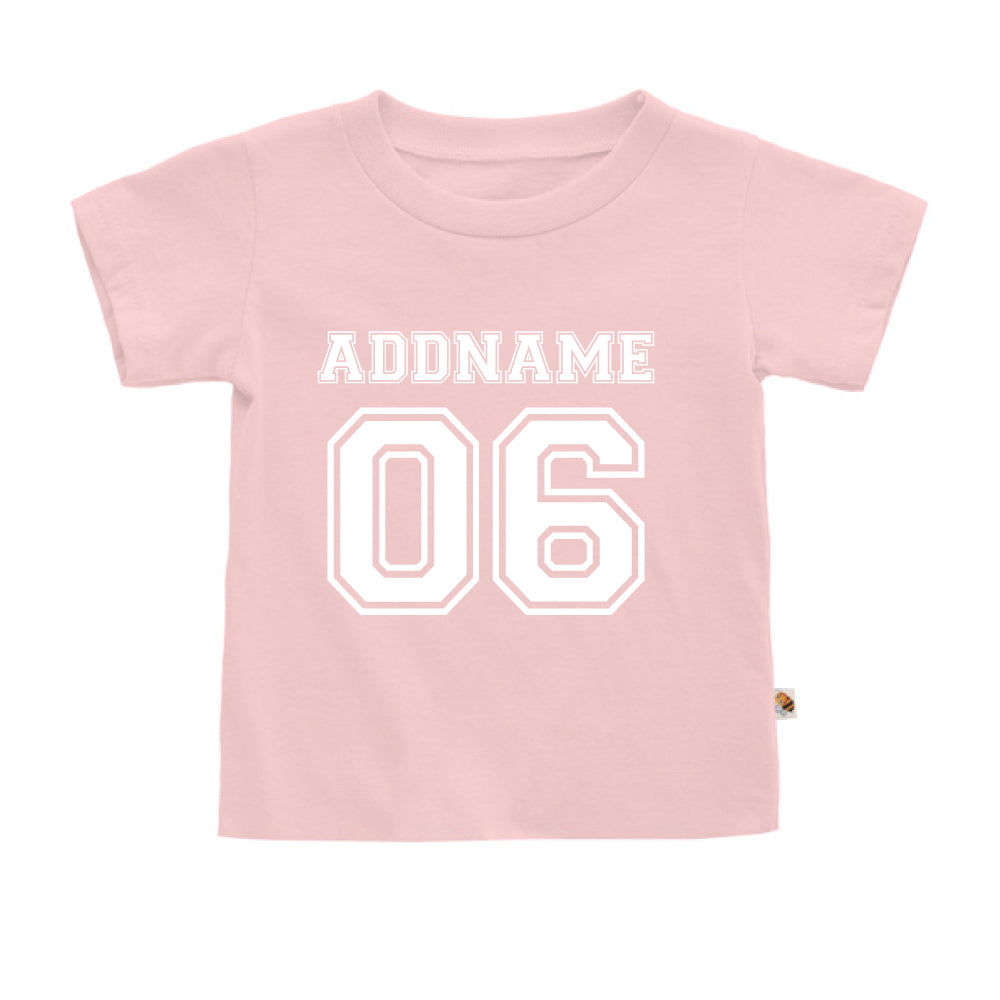 Teezbee.com - Name With Number  - Kids-T (Pink)