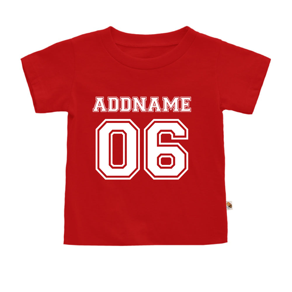 Teezbee.com - Name With Number  - Kids-T (Red)