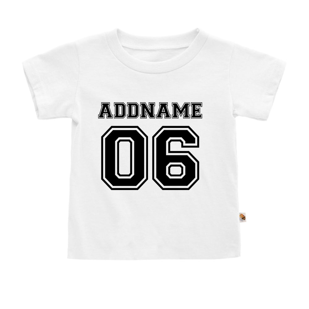 Teezbee.com - Name With Number  - Kids-T (White)