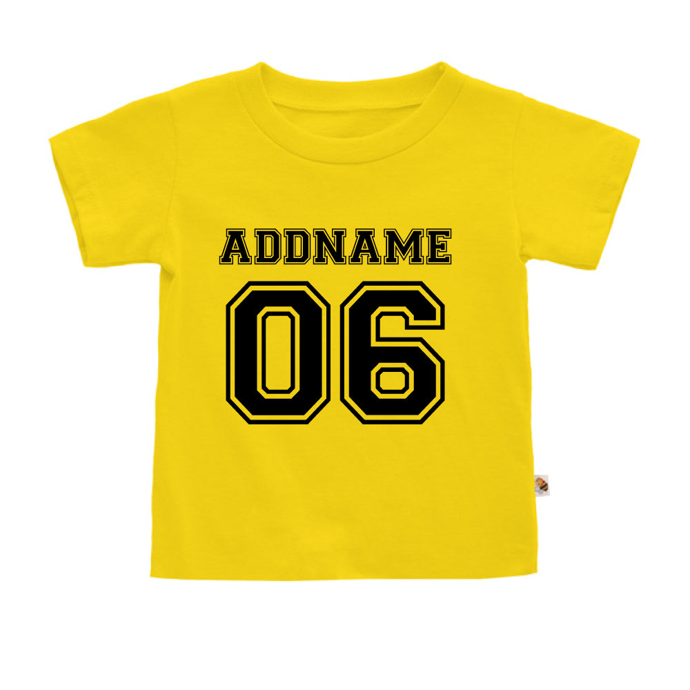 Teezbee.com - Name With Number  - Kids-T (Yellow)