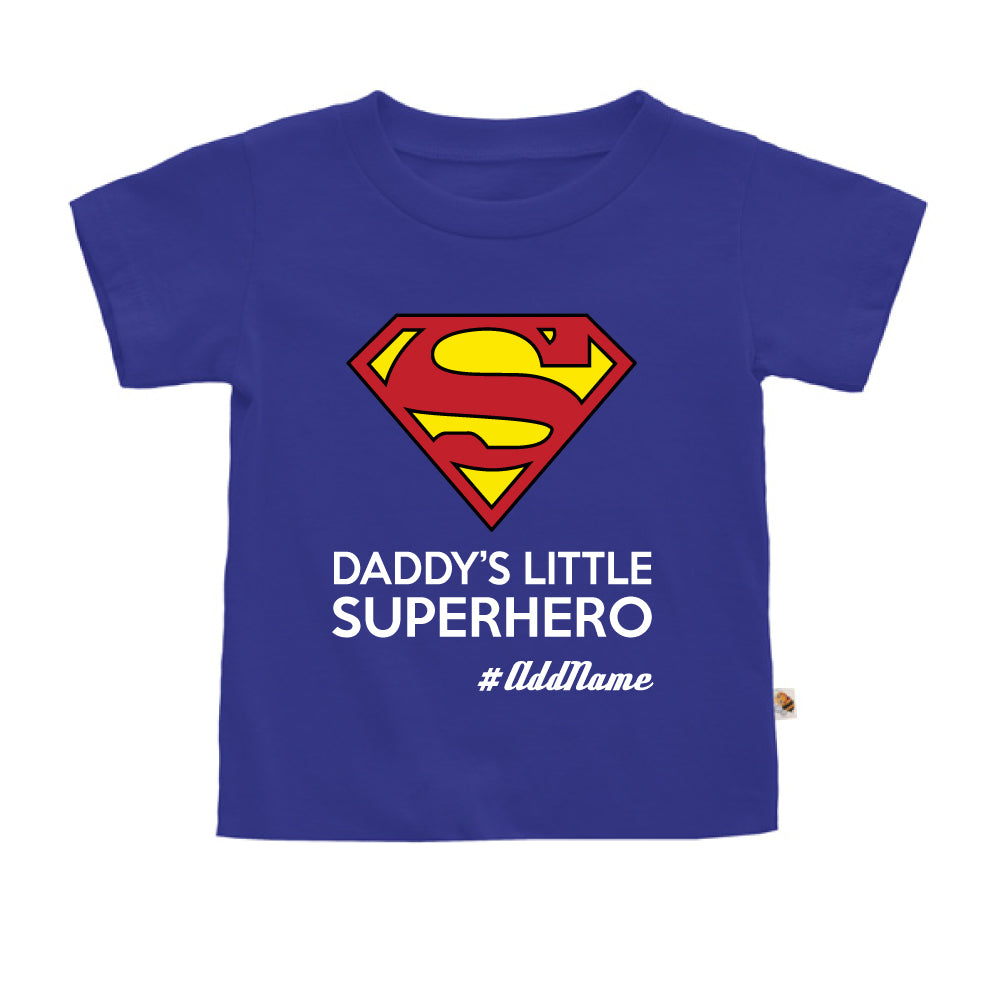 Teezbee.com - Daddy Little Superhero - Kids-T (Blue)