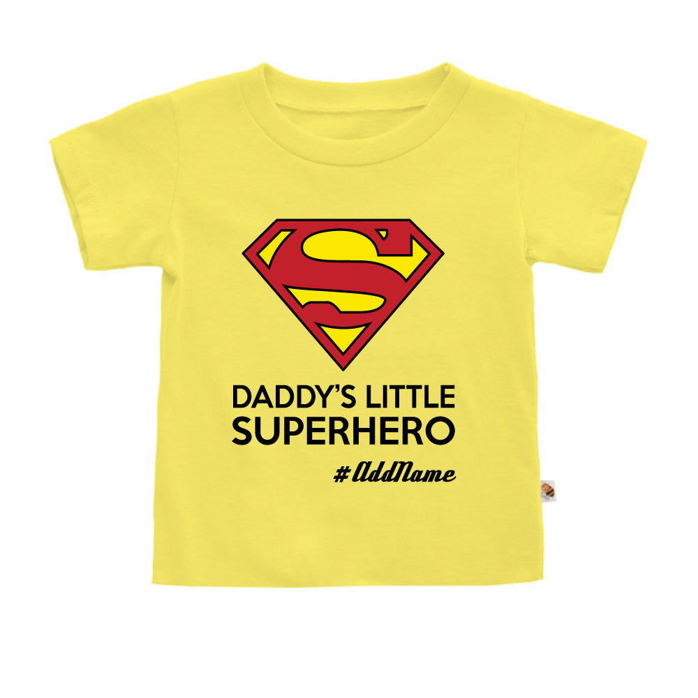 Teezbee.com - Daddy Little Superhero - Kids-T (Light Yellow)