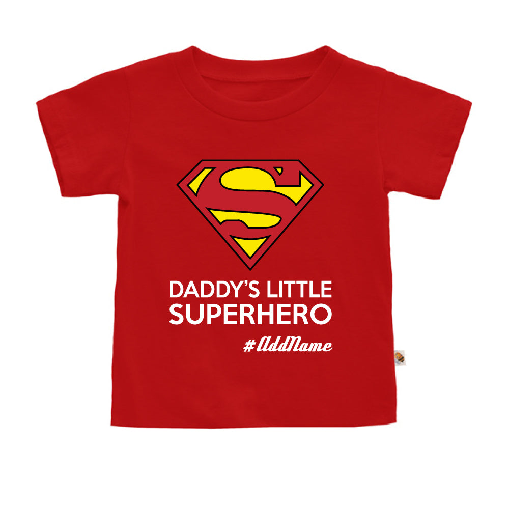 Teezbee.com - Daddy Little Superhero - Kids-T (Red)