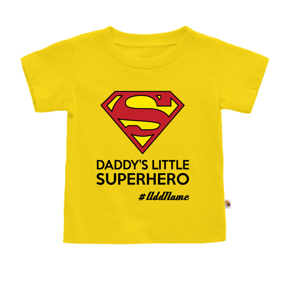 Teezbee.com - Daddy Little Superhero - Kids-T (Yellow)