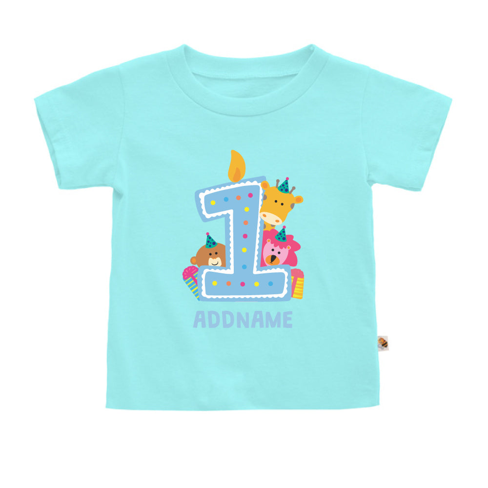 Teezbee.com - Cute Birthday Animal Blue - Kids-T (Light Blue)