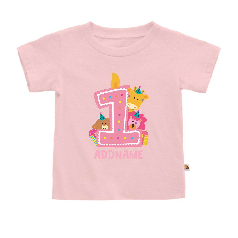 Teezbee.com - Cute Birthday Animal Pink - Kids-T (Pink)
