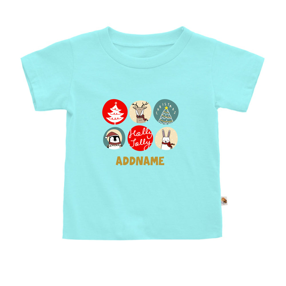 Teezbee.com - Holly Jolly Christmas - Kids-T (Light Blue)
