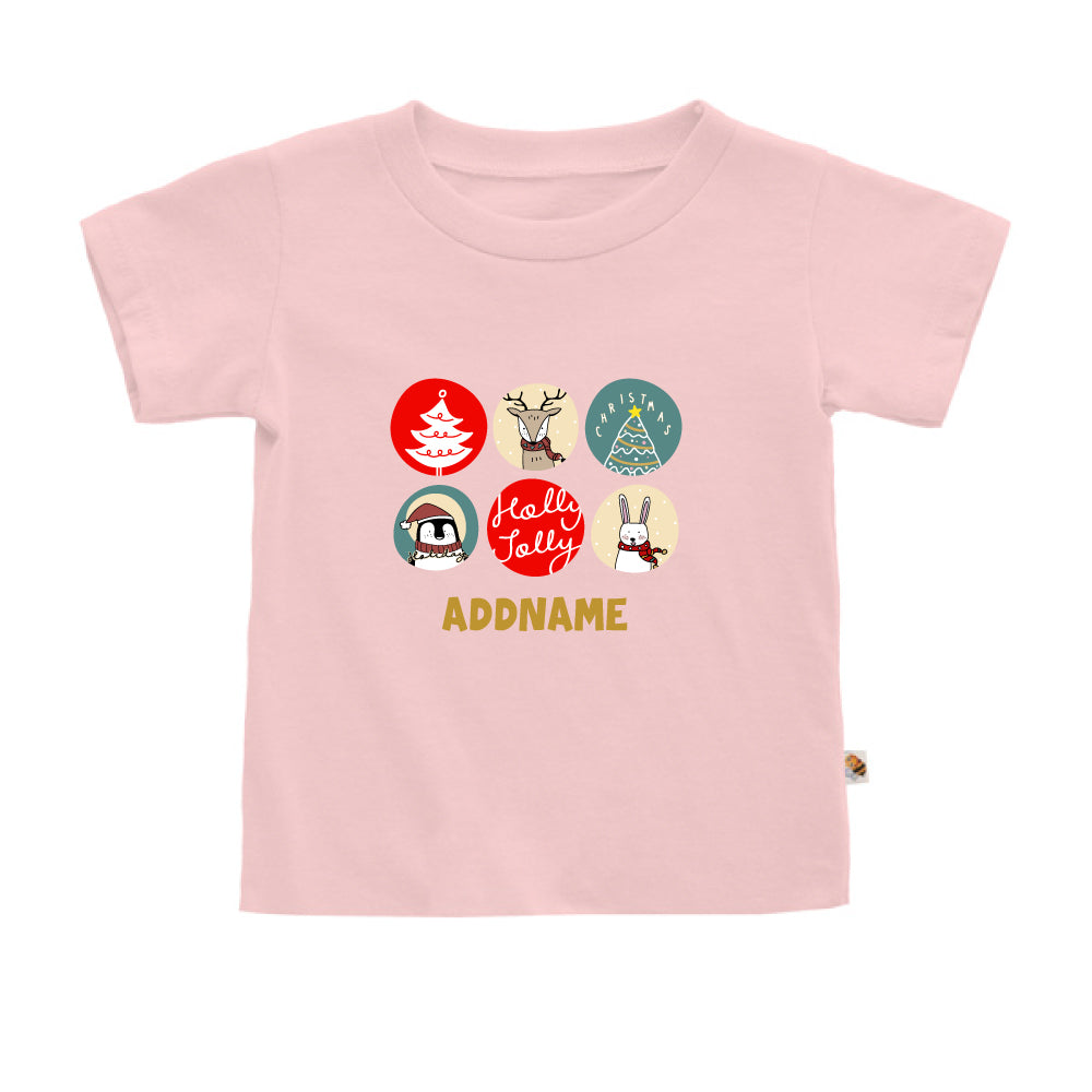 Teezbee.com - Holly Jolly Christmas - Kids-T (Pink)