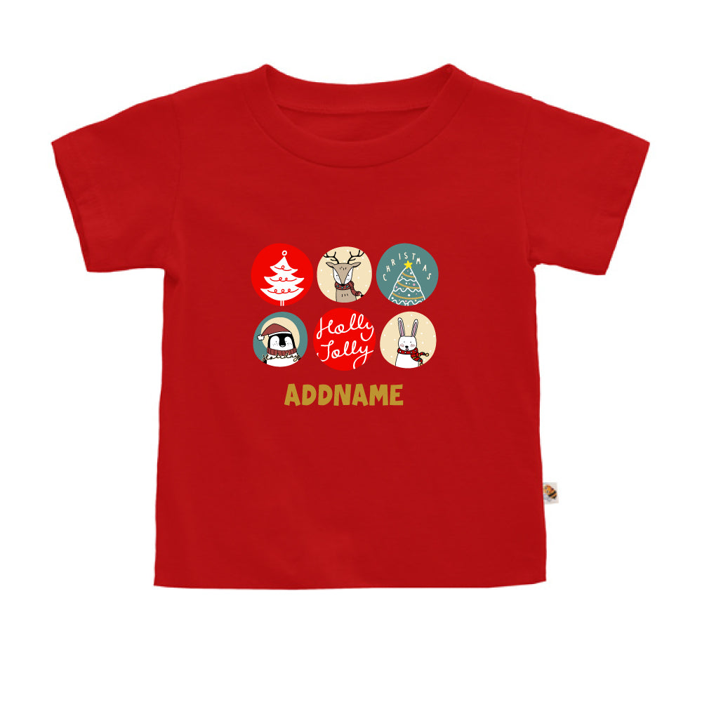 Teezbee.com - Holly Jolly Christmas - Kids-T (Red)