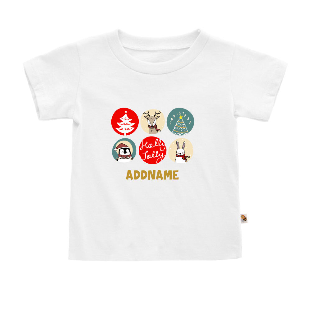 Teezbee.com - Holly Jolly Christmas - Kids-T (White)
