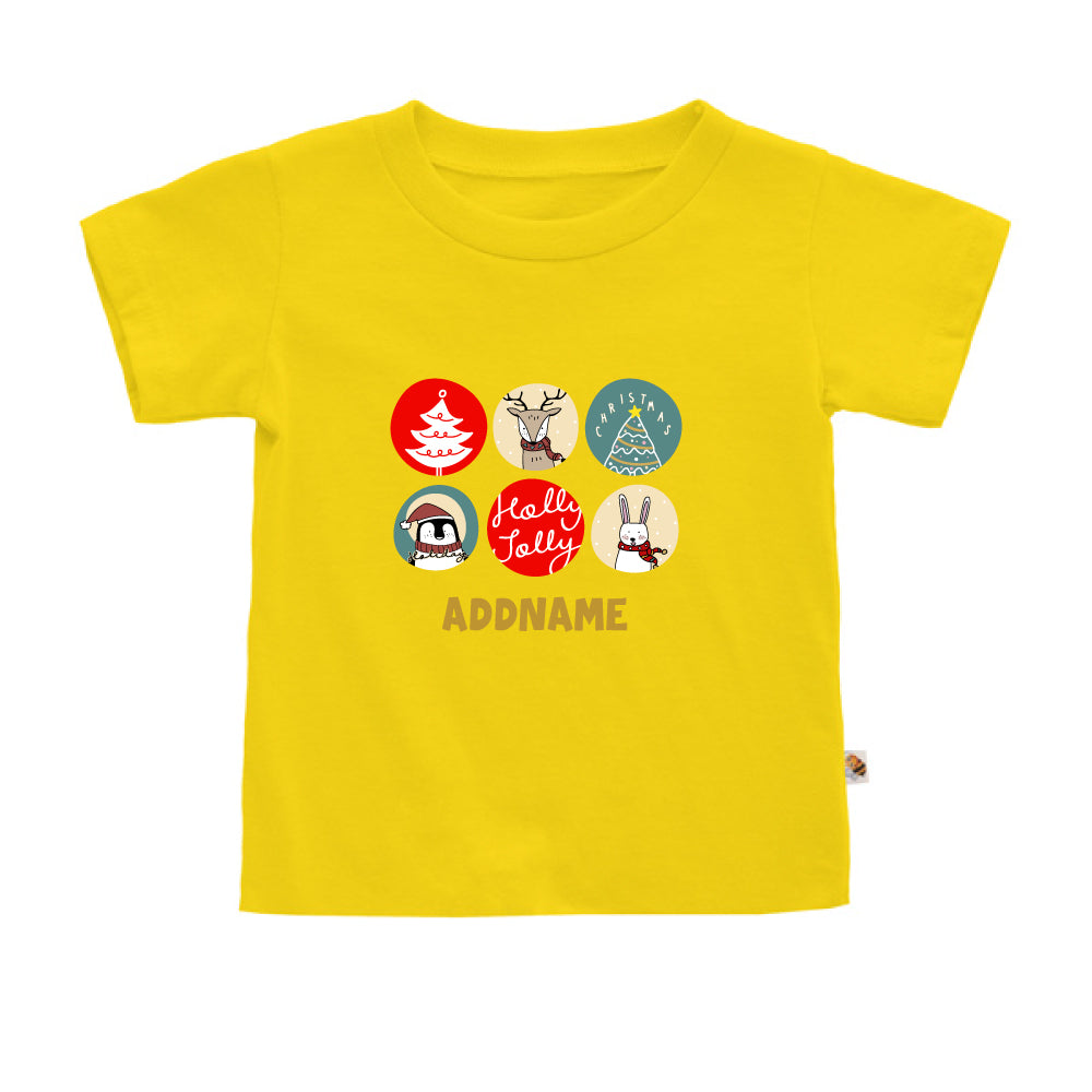 Teezbee.com - Holly Jolly Christmas - Kids-T (Yellow)
