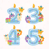 Teezbee.com - Cute Birthday Animal Blue