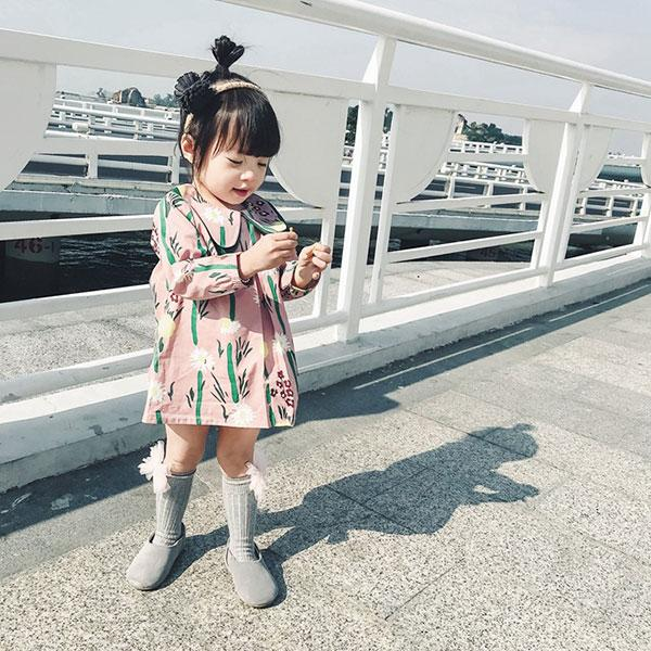 Cute Doll Collar Long Sleeve Dress