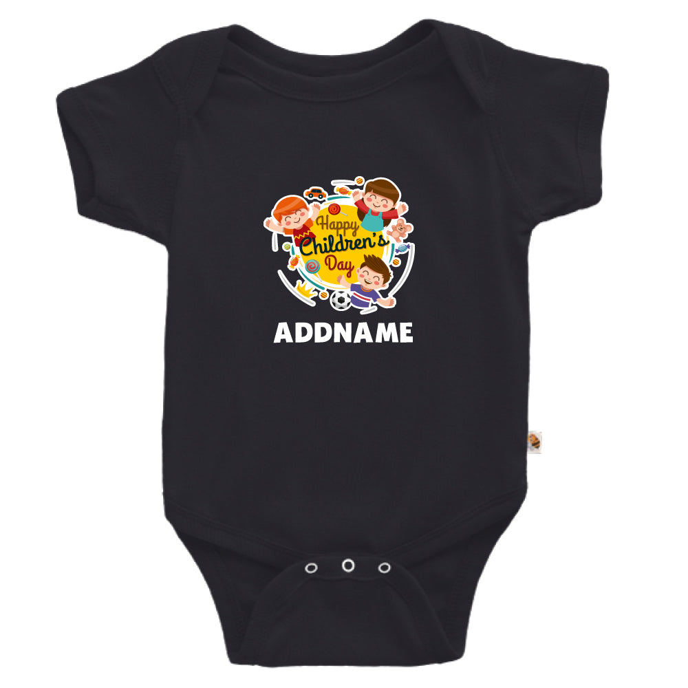 Teezbee.com - Happy Children - Romper (Black)