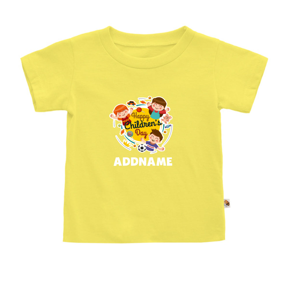 Teezbee.com - Happy Children - Kids-T (Light Yellow)