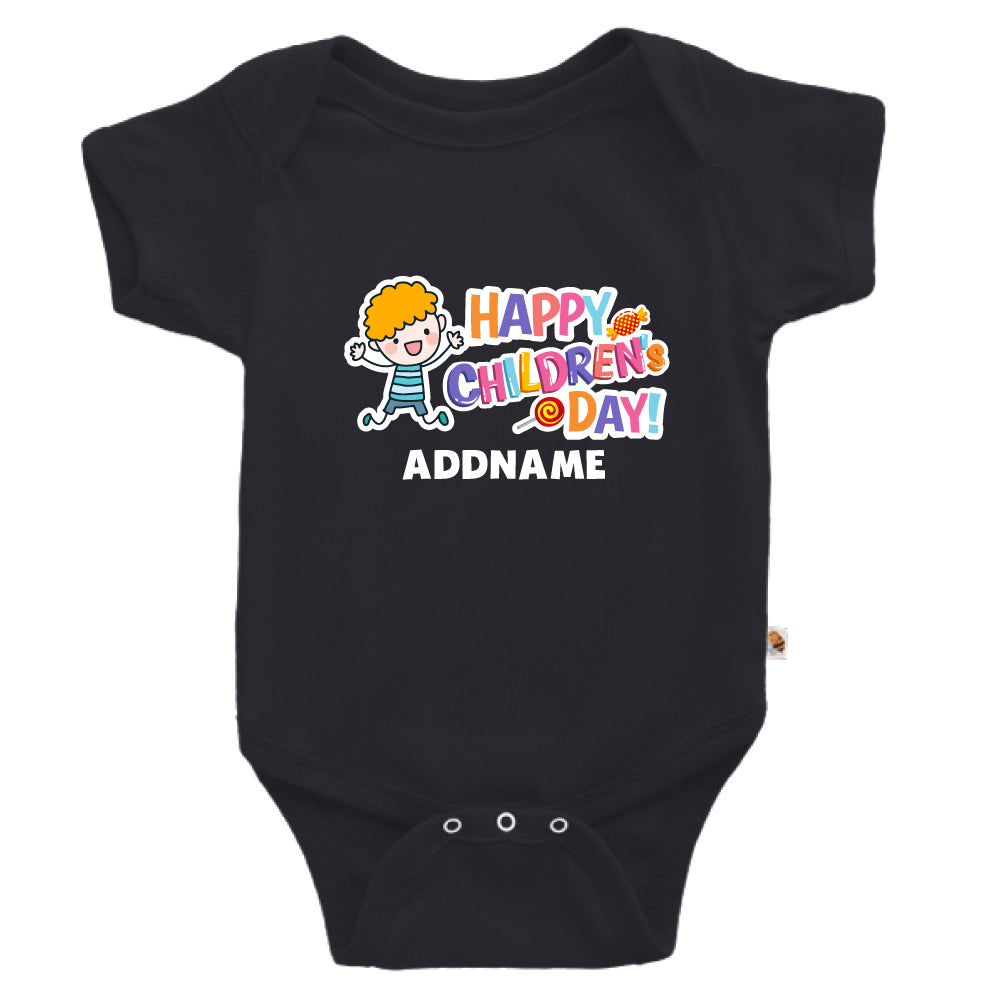 Teezbee.com - Joyful Boy - Romper (Black)