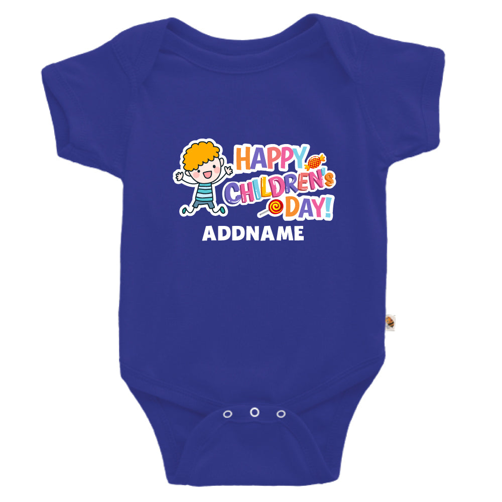 Teezbee.com - Joyful Boy - Romper (Blue)