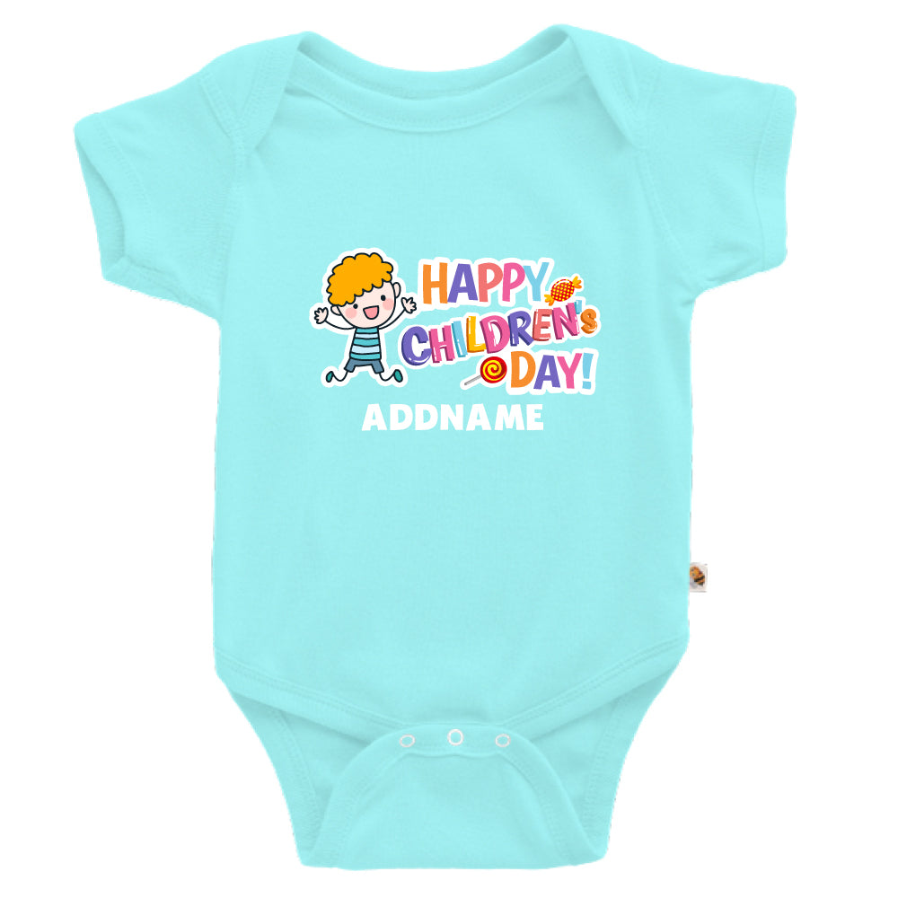 Teezbee.com - Joyful Boy - Romper (Light Blue)