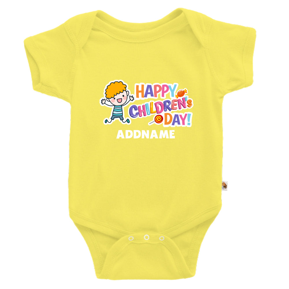 Teezbee.com - Joyful Boy - Romper (Light Yellow)