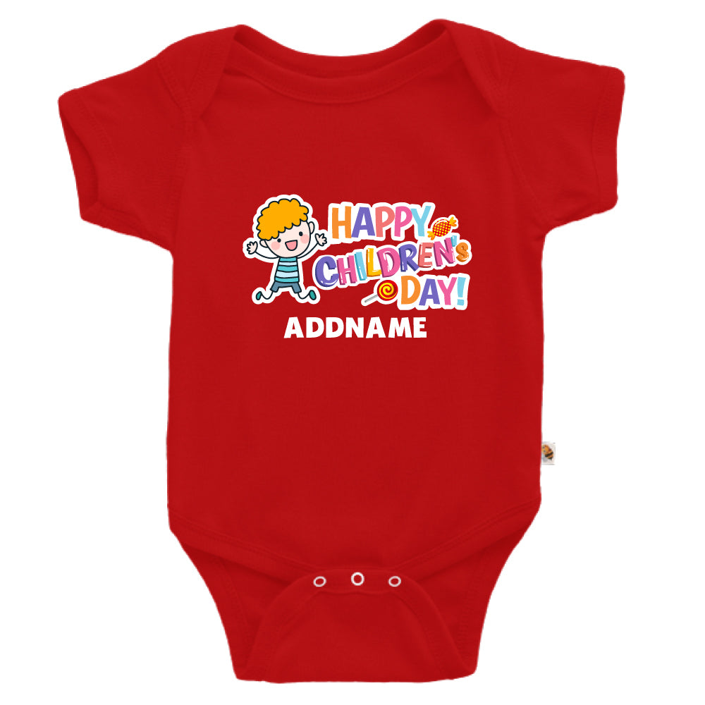 Teezbee.com - Joyful Boy - Romper (Red)
