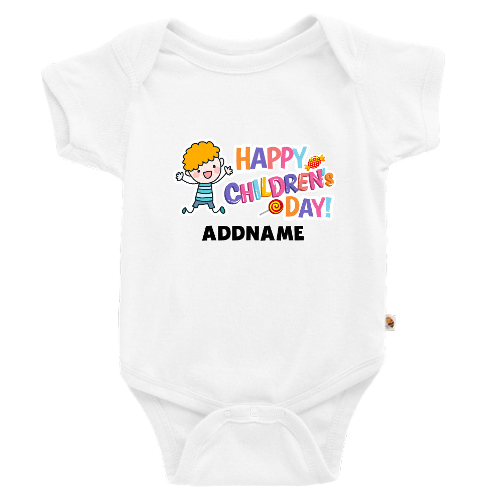 Teezbee.com - Joyful Boy - Romper (White)