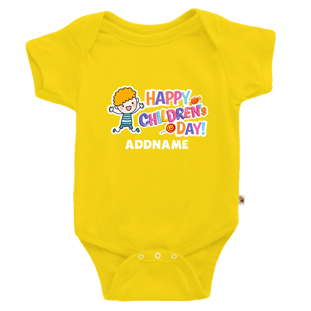 Teezbee.com - Joyful Boy - Romper (Yellow)