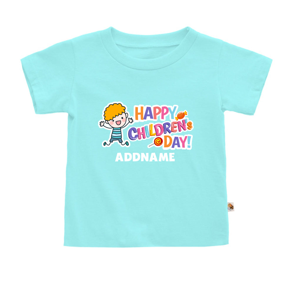Teezbee.com - Joyful Boy - Kids-T (Light Blue)