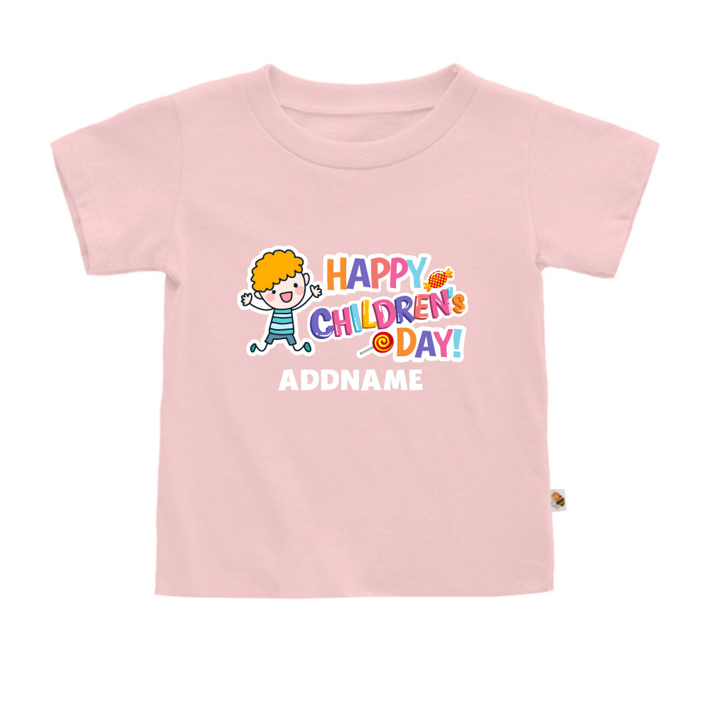 Teezbee.com - Joyful Boy - Kids-T (Pink)