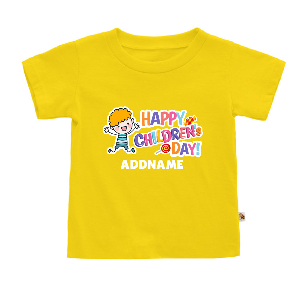 Teezbee.com - Joyful Boy - Kids-T (Yellow)
