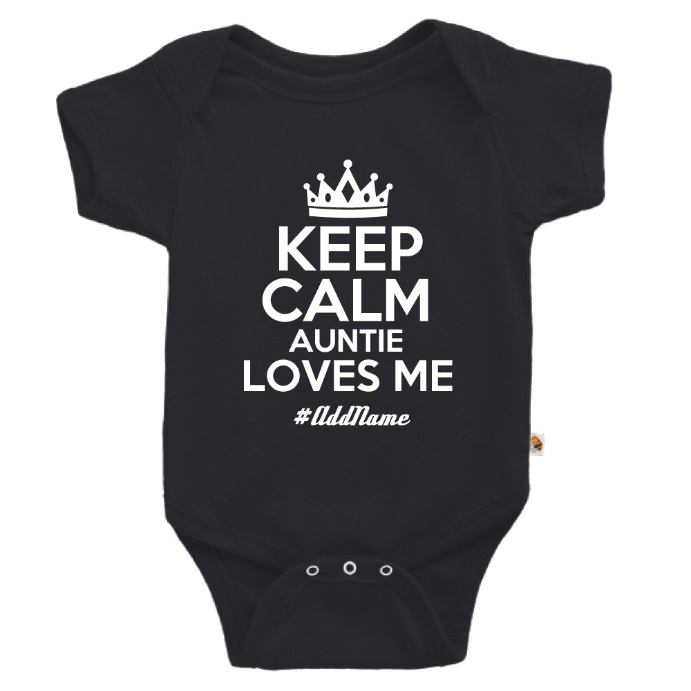 Teezbee.com - Keep Calm Auntie Loves Me - Romper (Black)
