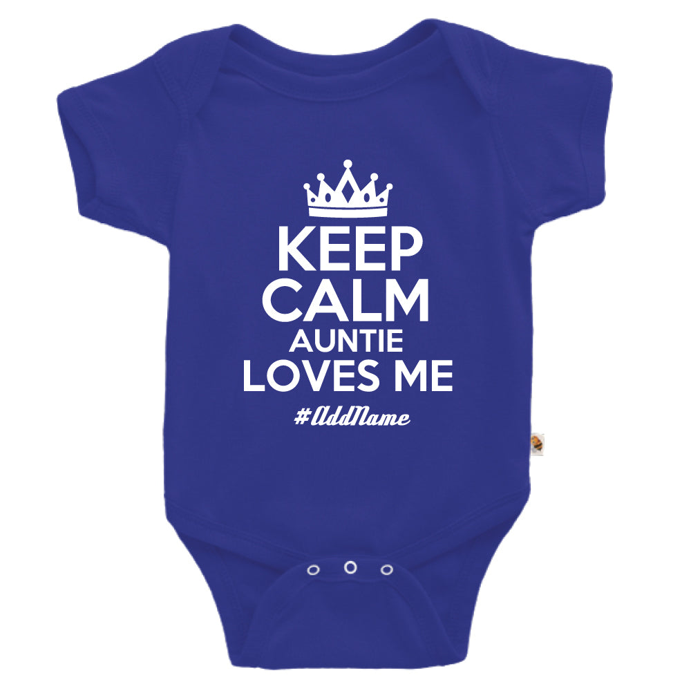 Teezbee.com - Keep Calm Auntie Loves Me - Romper (Blue)