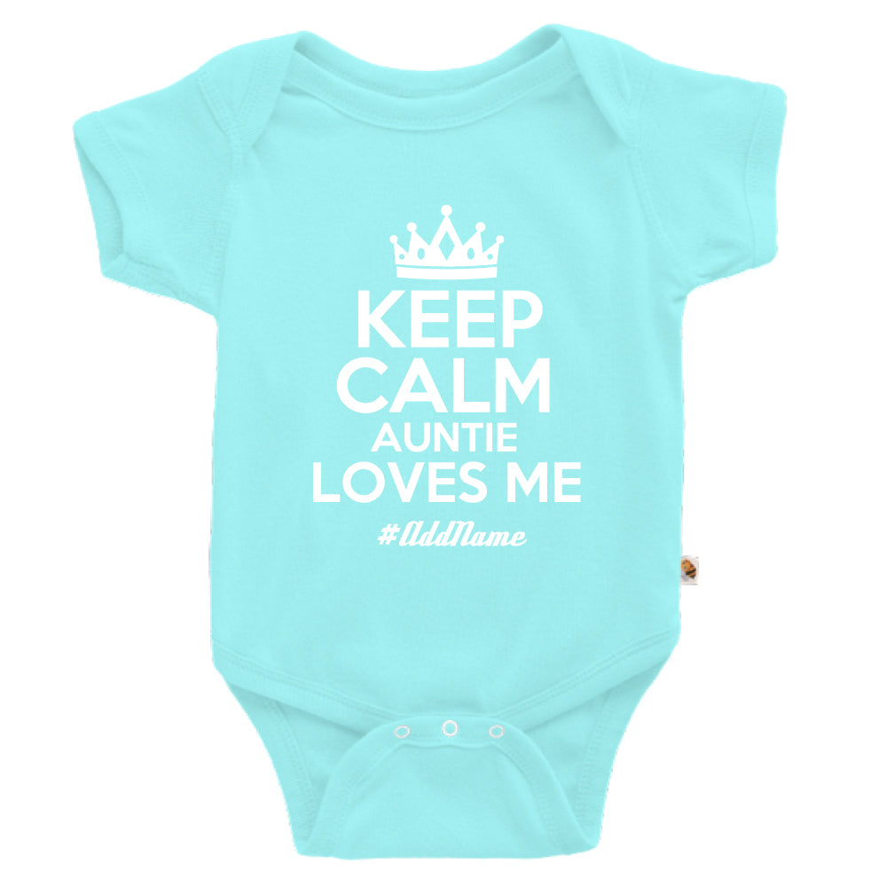 Teezbee.com - Keep Calm Auntie Loves Me - Romper (Light Blue)