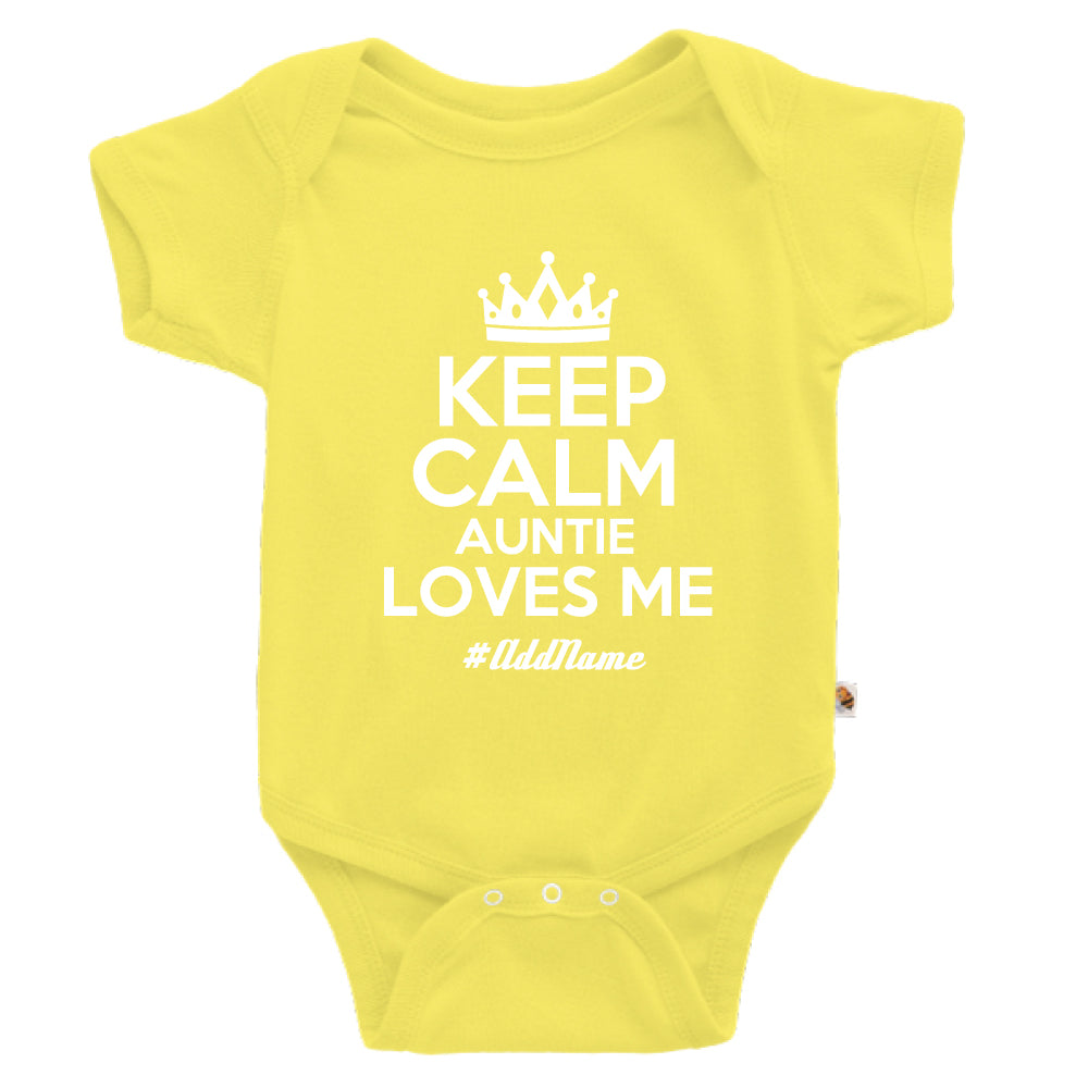 Teezbee.com - Keep Calm Auntie Loves Me - Romper (Light Yellow)