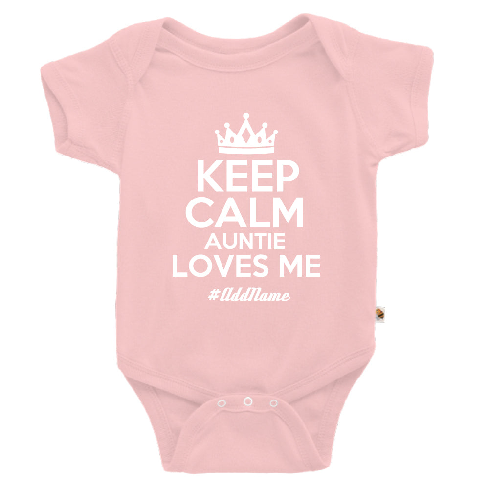 Teezbee.com - Keep Calm Auntie Loves Me - Romper (Pink)