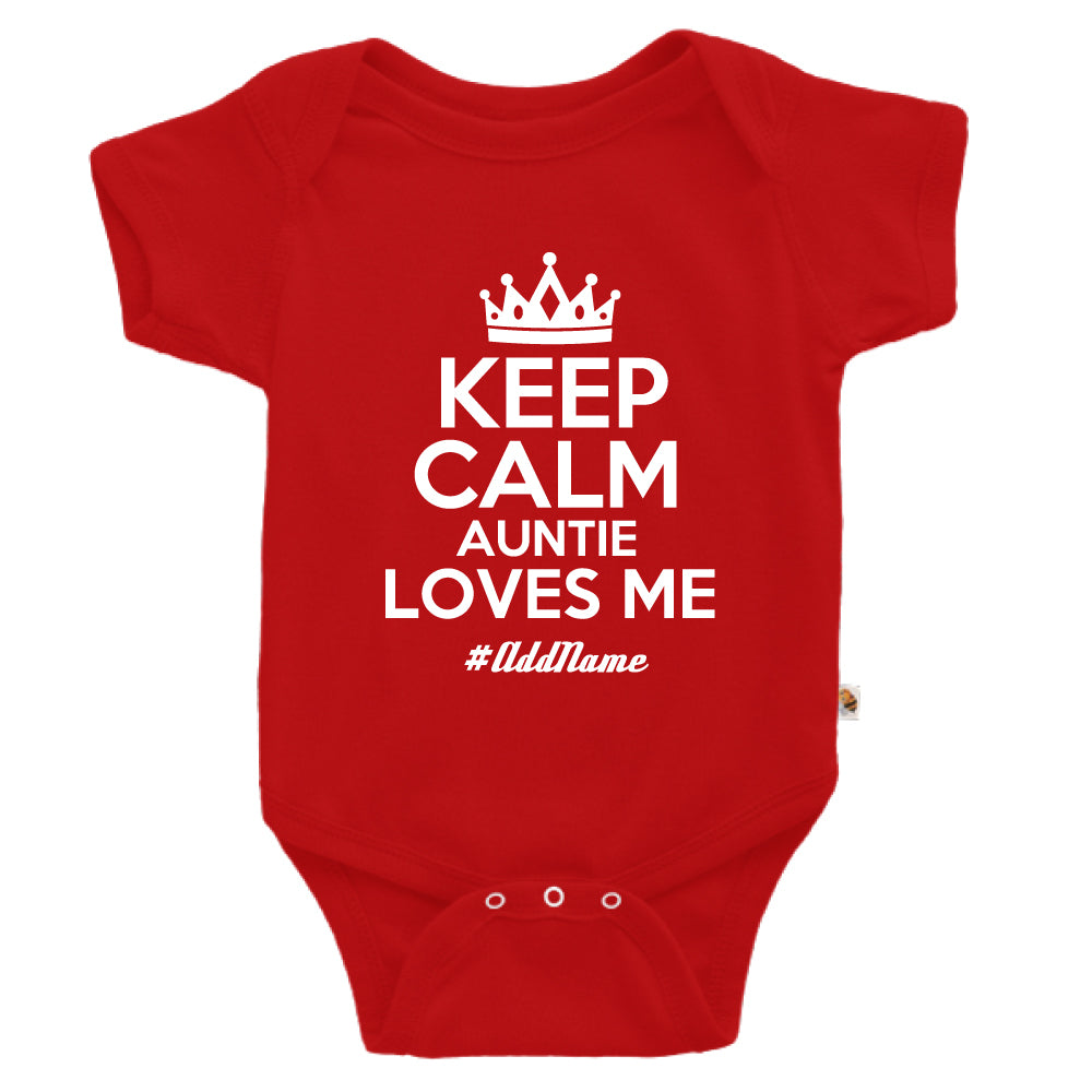 Teezbee.com - Keep Calm Auntie Loves Me - Romper (Red)