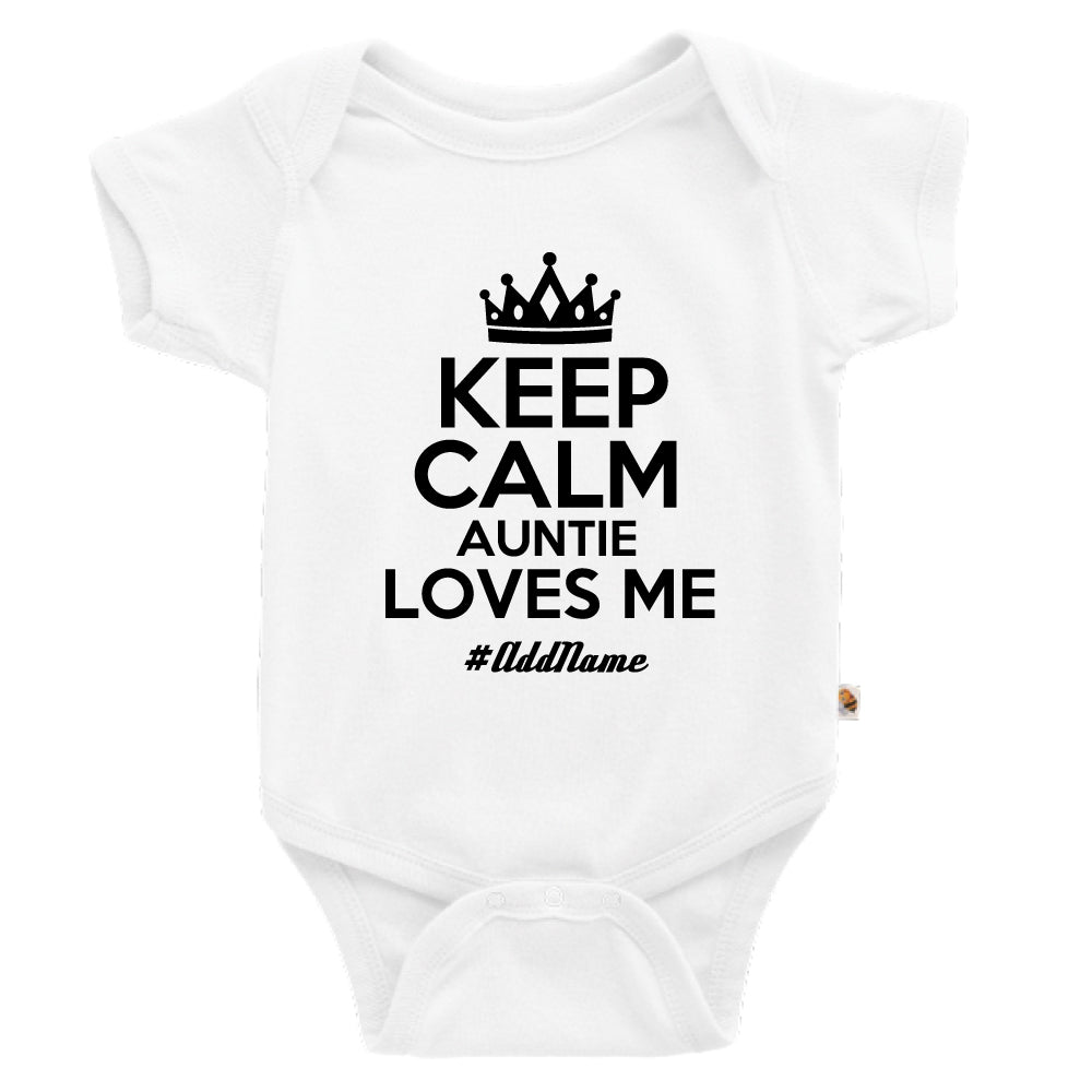 Teezbee.com - Keep Calm Auntie Loves Me - Romper (White)