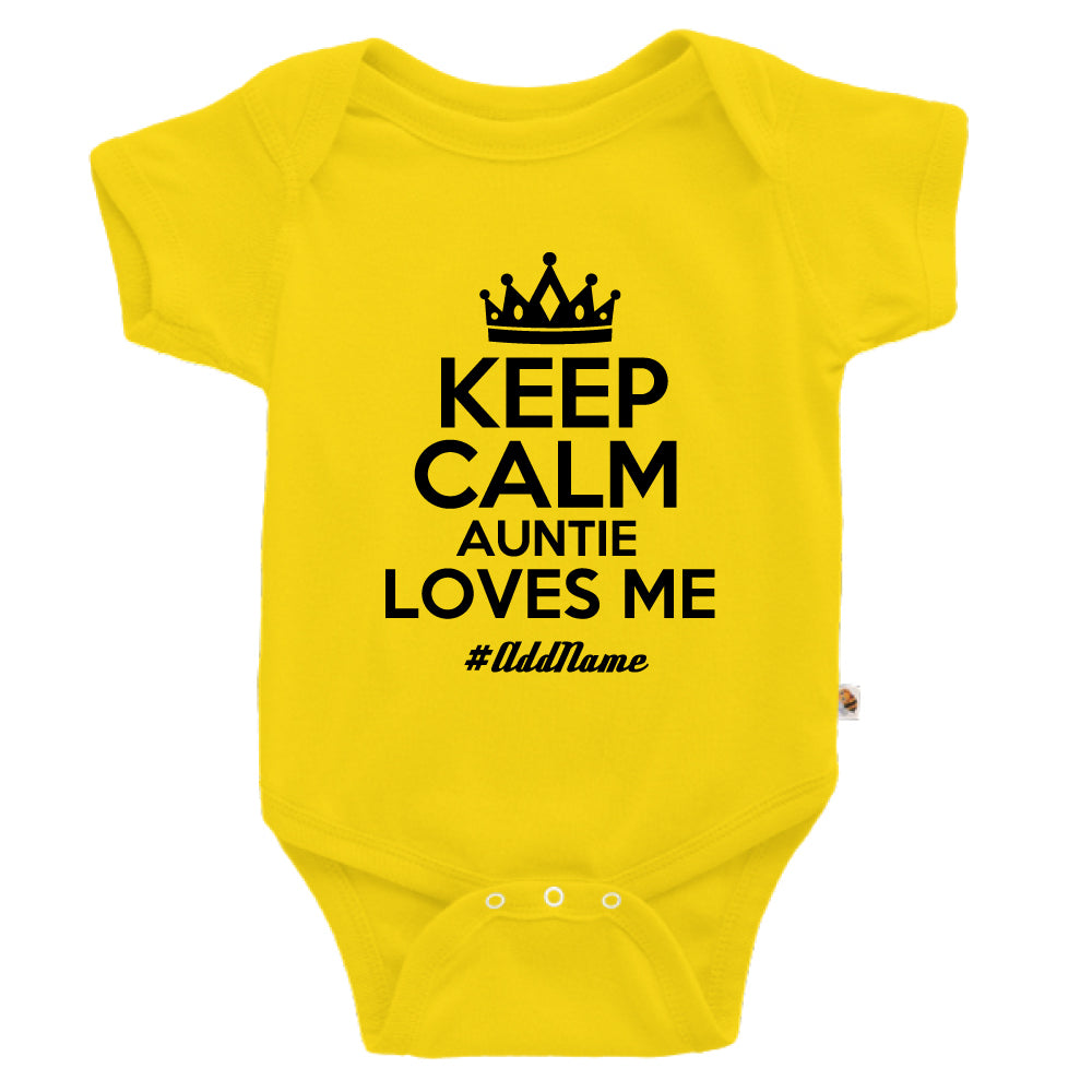 Teezbee.com - Keep Calm Auntie Loves Me - Romper (Yellow)