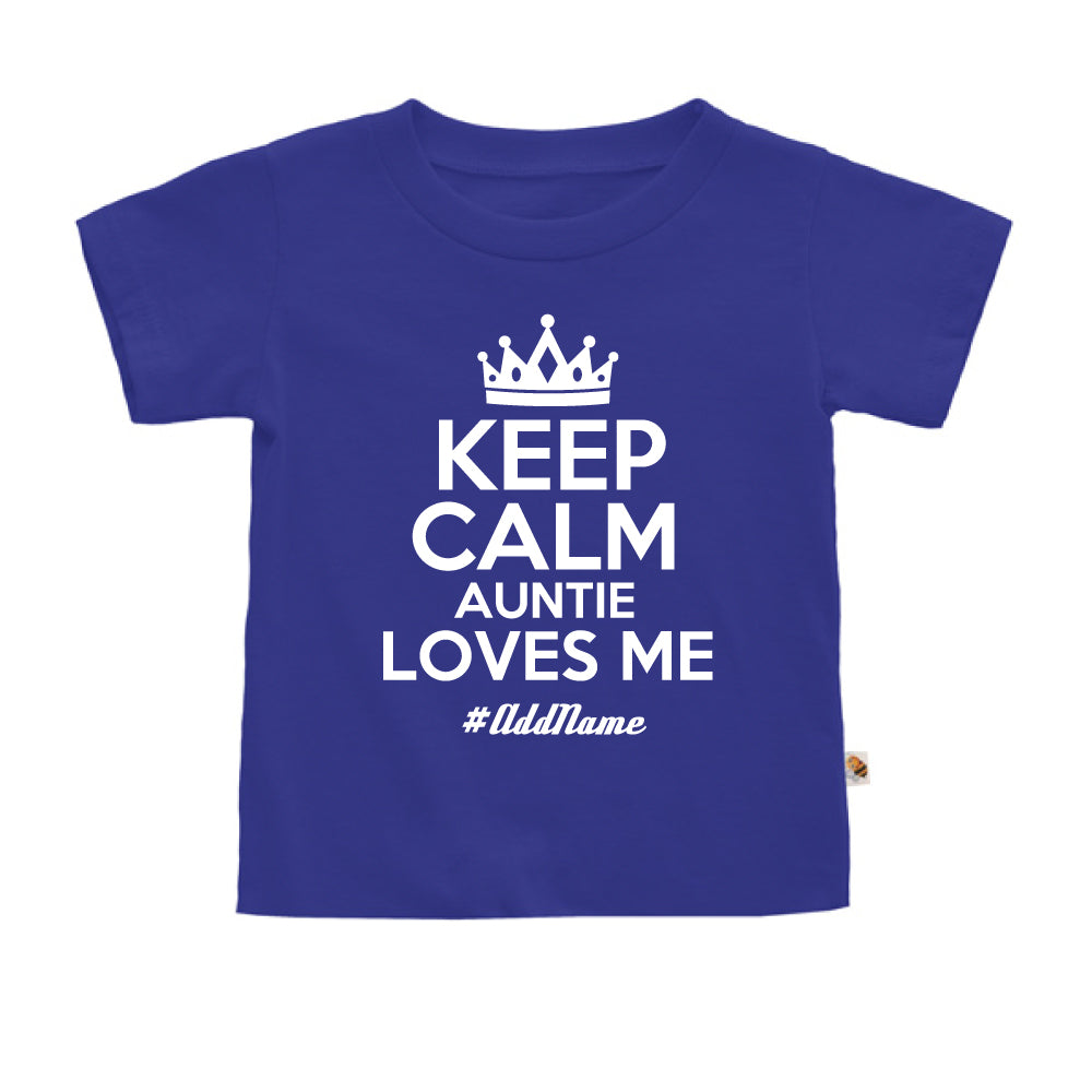 Teezbee.com - Keep Calm Auntie Loves Me - Kids-T (Blue)
