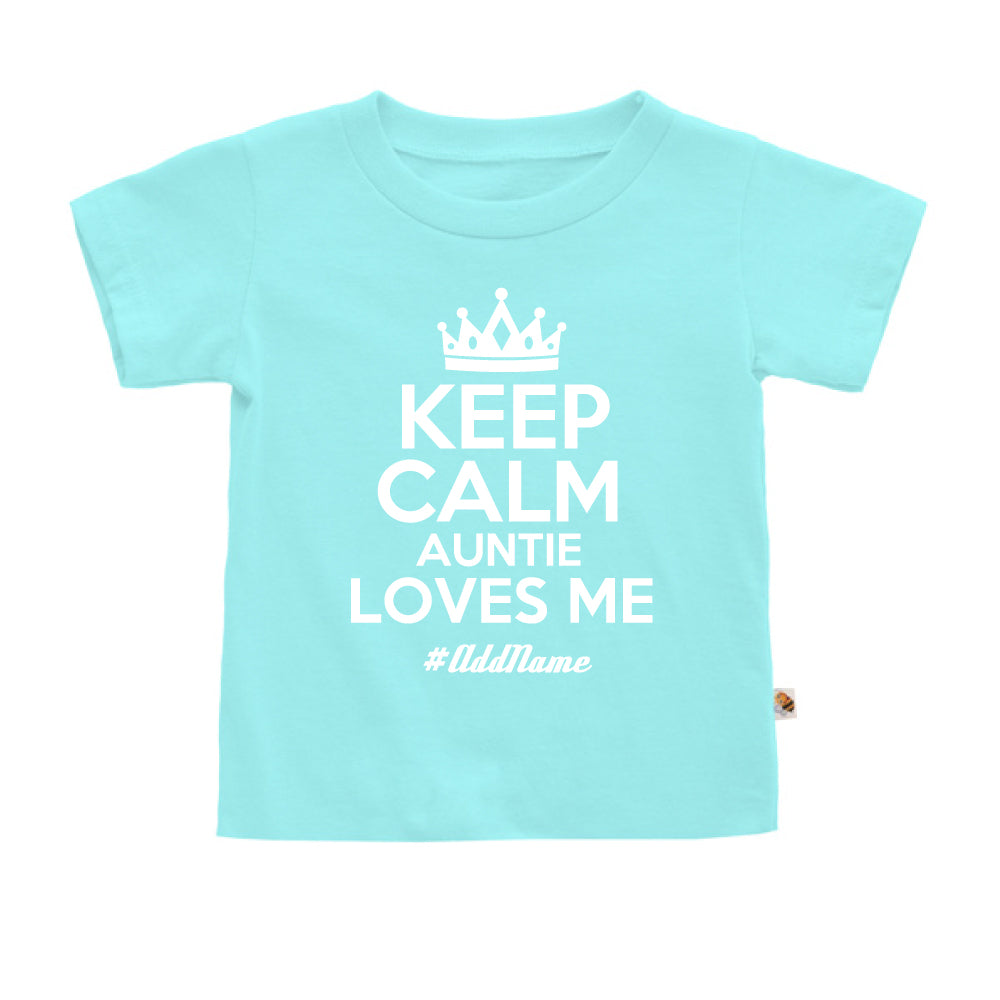 Teezbee.com - Keep Calm Auntie Loves Me - Kids-T (Light Blue)