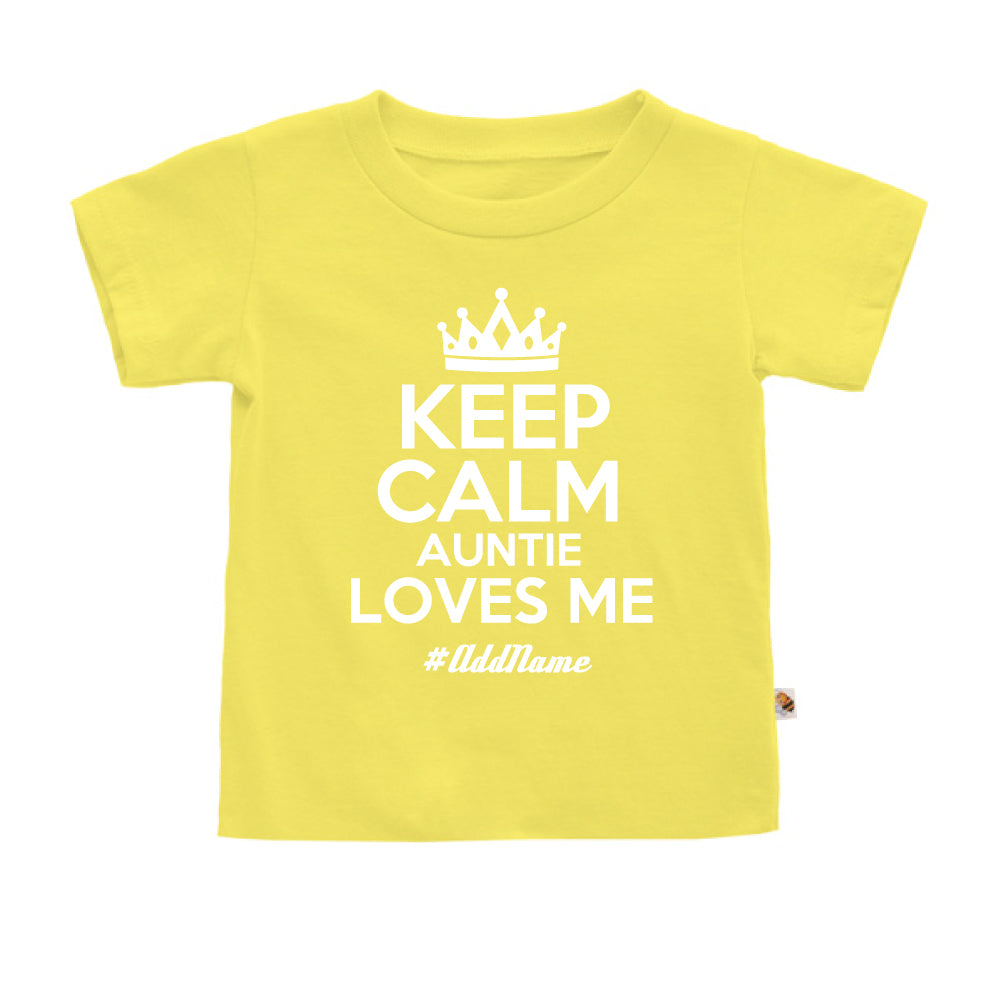 Teezbee.com - Keep Calm Auntie Loves Me - Kids-T (Light Yellow)