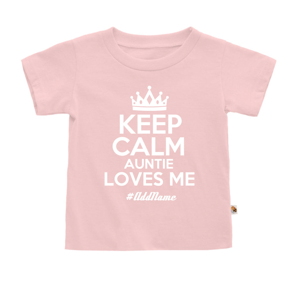 Teezbee.com - Keep Calm Auntie Loves Me - Kids-T (Pink)