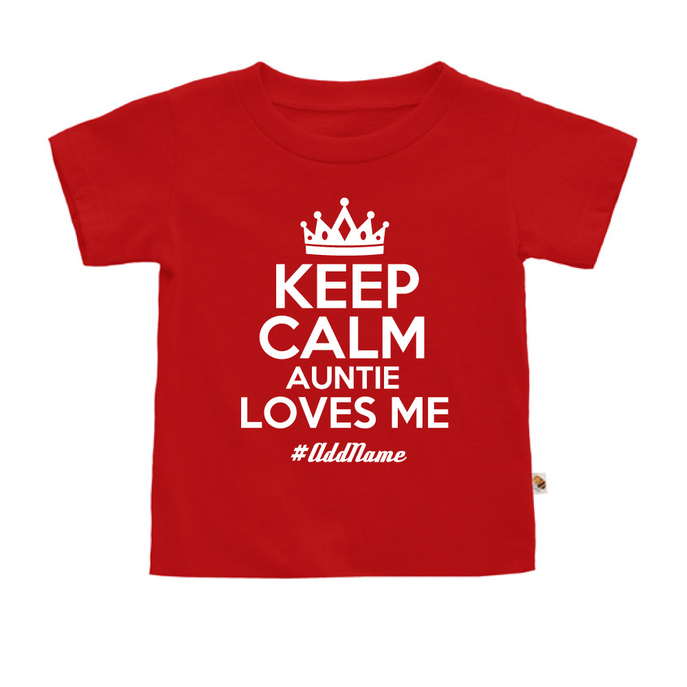 Teezbee.com - Keep Calm Auntie Loves Me - Kids-T (Red)